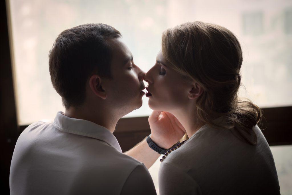 Фотосессия пары в студии
